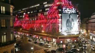 A sede parisiense do grupo Galeries Lafayette, a maior loja de departamentos da Europa.