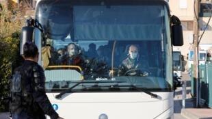 1月31日來到隔離地點的法國公民