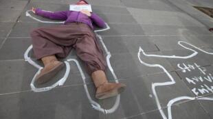 Акция протеста против феминицида