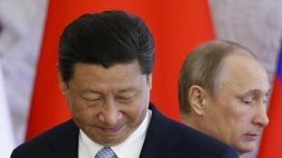 Les présidents russes et chinois, Vladimir Poutine et Xi Jinping, au Kremlin, le 8 mai 2015.