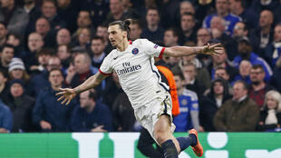 Zlatan Ibrahimovic set up one goal and scored another in PSG's 2-1 success at Chelsea.
