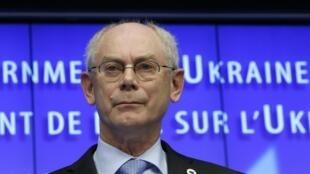 Herman Von Rompuy, presidente do Conselho Europeu, anunciou hoje, 6 de fevereiro de 2014, que UE e Ucrânia vão assinar acordo de associação.