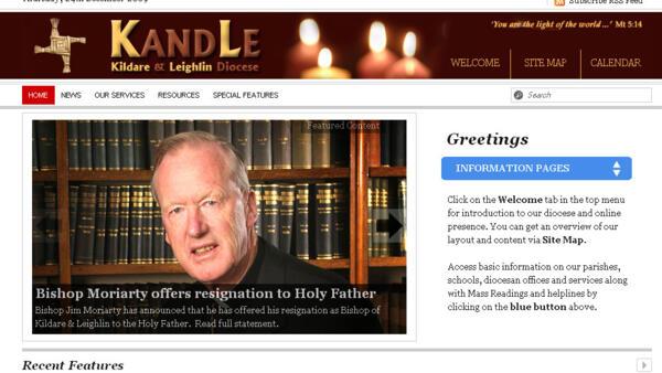 « J'ai présenté au Saint Père ma démission en tant qu'évêque de Kildare et Leighlin », a indiqué Jim Moriarty dans un communiqué diffusé par son diocèse.