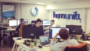 Escritório da Homunity, plataforma francesa de crowdfunding imobiliário