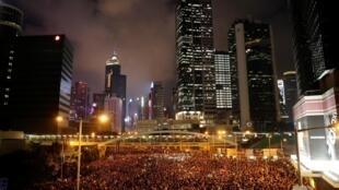 Biển người Hồng Kông biểu tình đòi rút dự luật cho phép dẫn độ sang Trung Quốc, ngày 16/06/2019.