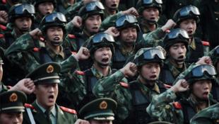Les soldats de l'Armée populaire de libération (APL).