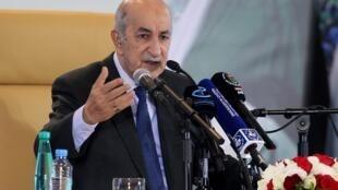 Le nouveau président algérien Abdelmadjid Tebboune.