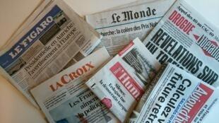 Primeiras páginas dos jornais franceses de 23 de maio de 2016