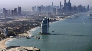 Vue de Dubaï aux Émirats arabes unis.