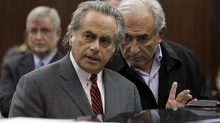 Lawyer Benjamin Brafman (L) is leading Dominique Strauss-Kahn's defence team