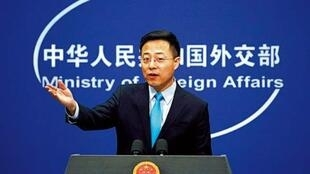 中国外交部发言人赵立坚资料图片