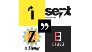"""""""L'Imprévu"""", """"Le Sept"""", """"Le Zéphyr"""", """"8e étage""""."""