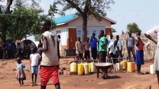 Le camp d'Adjumani, dans le nord de l'Ouganda, près de la frontière avec le Soudan du Sud, le 29 août 2016.