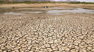 Le nord de l'Inde connait une canicule exceptionnelle avec des températures qui dépasse à certains endroits les 50°C. Près d'Ajmer, un étang s'est évaporé avec la chaleur le 2 juin 2019.