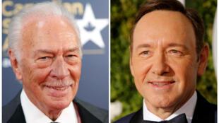 O ator Christopher Plummer (esq.) deverá substituir Kevin Spacey em novo filme de Ridley Scott.