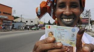 Cidadã maliana aquando da votação para a segunda-volta das presidenciais