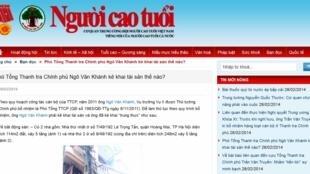 Trang web báo Người Cao Tuổi