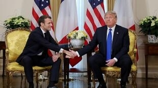 Macron and Trump have, at times, had a shaky relationship.