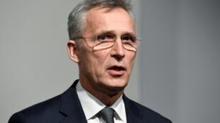 Le secrétaire général de l'Otan, Jens Stoltenberg, à Hambourg, en Allemagne, le 17 janvier 2020.