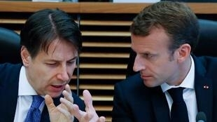 Speaking the same language: Giuseppe Conte and Emmanuel Macron are old friends.