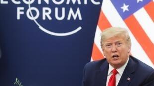 Tổng thống Mỹ Donald Trump, ngôi sao tại Diễn đàn Davos tại Thụy Sĩ lần thứ 50. Ảnh chụp ngày 22/01/2020.