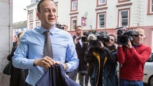"""""""We did not expect or predict a pandemic of this kind, but we were prepared for an economic crisis, and we are in a much stronger position today as a result,"""" said Irish prime minister Leo Varadkar (pictured March 14, 2020)"""