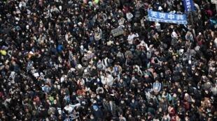 Biểu tình ở Causeway Bay, Hồng Kông, ngày 8/12/2019.