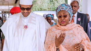 Shugaban Najeriya Muhammadu Buhari tare da matarsa A'isha Buhari