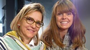 Veronique Tesseraud y Ana Iza Castro Valle en los estudios de RFI.