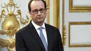 François Hollande no Palácio do Eliseu