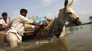Villagers struggle in Muzaffargarh district, Punjab province