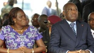 Le couple Gbagbo en novembre 2010