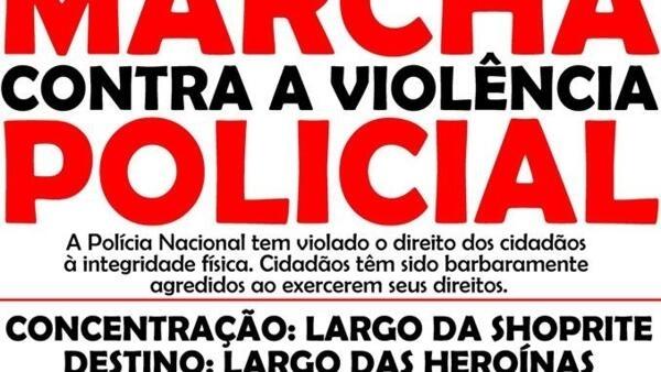 Convocatória para marcha em Luanda contra a violência policial