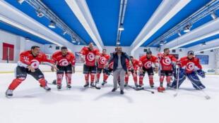 «L'équipe tunisienne» non officielle de hockey sur glace.