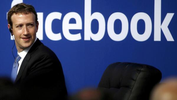 Mark Zuckerberg, na sede do Facebook em Menlo Park, Califórnia, EUA. 27/09/15