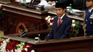 Tổng thống Indonesia phát biểu trước Quốc hội ngày 16/08/2016.