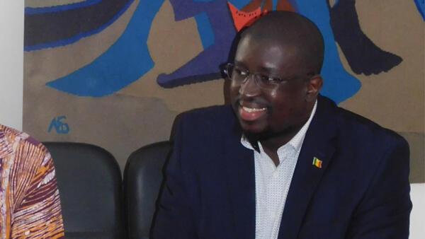 David Baratoux et Maram Kairé à l'IFAN à Dakar.