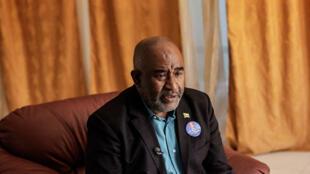 Incumbent President Azali Assoumani during an interview at Anjouan-Ouani airport, Comoros on 20 March 2019.