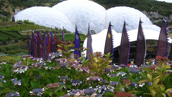 The Eden Project in Cornwall, southwest England