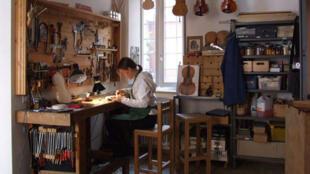 A luthier workshop
