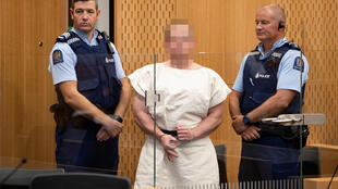 Brenton Tarrant, hung thủ xả súng vào nhà thờ Hồi giáo tại Christchurch, ra trình diện tòa án ngày 16/03/2019.