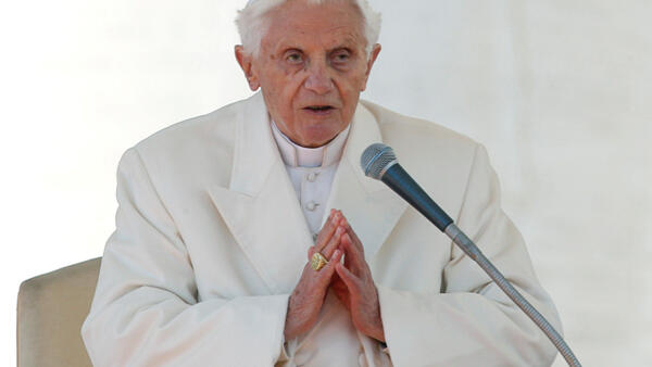 O papa emérito Bento 16, em foto de arquivo.