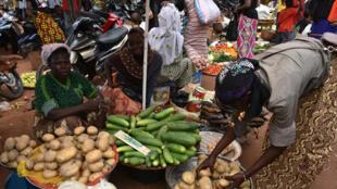 Sur un marché de Ouagadougou (photo d'illustration)