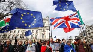 Tuần hành tại Luân Đôn kêu gọi tổ chức trưng cầu dân ý lần hai về Brexit, ngày 23/03/2019.