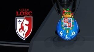 Logotipo da equipa francesa Lille e portuguesa FC PORTO