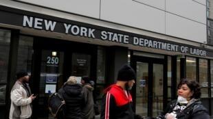 Sở đang ký lao động bang New York, tại khu Brooklyn  thành phố New York, Hoa Kỳ ngày 20/03/2020.