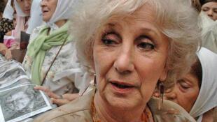 Estela de Carlotto, presidenta de la organización argentina Abuelas de Plaza de Mayo.