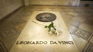O túmulo de Lenardo da Vinci no castelo de Amboise, na França.