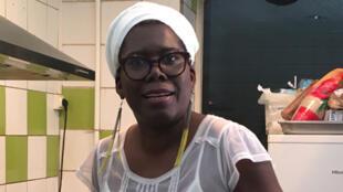Ymelda Marie-Louise dans la cuisine de son restaurant.