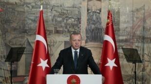 O Presidente turco, Recep  Tayyip  Erdogan.